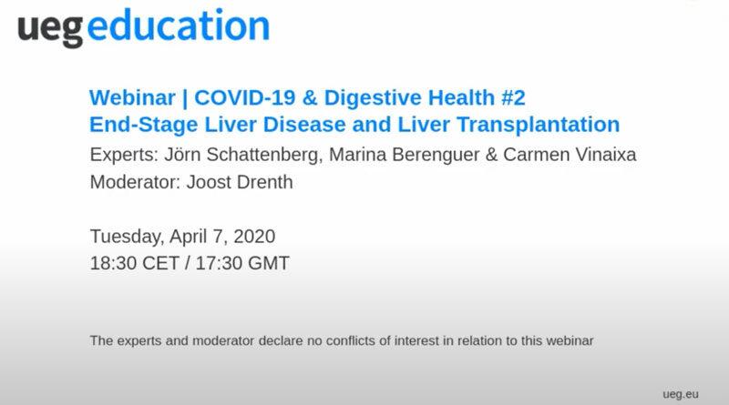 Webinar COVID-19 & Digestive Health